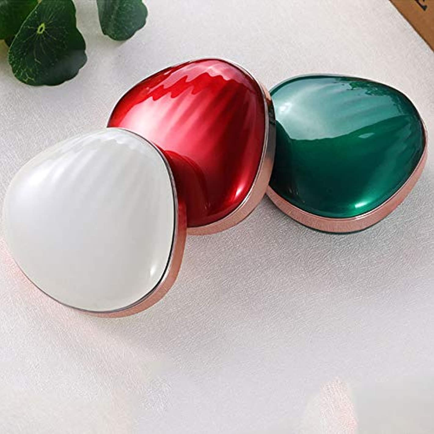 嘆くシプリー兵器庫流行の 新しいクリエイティブLEDソフトアイメイクミラー多機能塗りつぶし充電宝メイクアップミラー美容ミラーABSアルミ3レッドブルーホワイト (色 : Green)