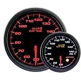 AUTOGAUGE(オートゲージ) 日本製モーター 52mm 油温計 2色バックライト ワーニング付 シンプルファンクション 430シリーズ