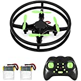 RC Mini Drone Quadcopter, 2.4GHz 4-Axis Upgraded Nano Pocket Quad Copter, MakeTheOne Super Durable Remote Control Micro Helicopter Kit for Kids & Beginners, 360 Degree Stunt Flip Flying & Racing, 2 Bonus Replaceable Batteries