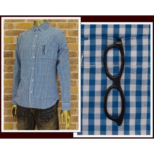 キャンディファンタジー CANDY FANTASY 長袖チェックシャツ メンズ 13342-2 ブルー L