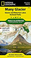 National Geographic Many Glacier: Glacier/ Waterton Lakes National Parks Montana, USA / Alberta, Canada (National Geographic Trails Illustrated Map)