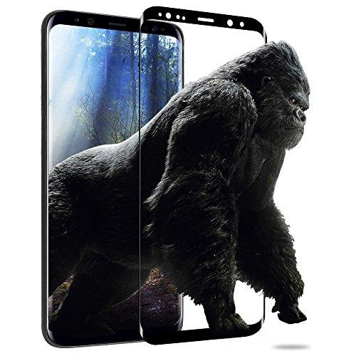 Galaxy S9 ガラスフィルム memumi® サムスン ギャラクシーS9専用 強化ガラス 3D液晶全面保護フィルム「業界最高硬度9H/指紋防止/気泡ゼロ/高感度タッチ/極薄0.3mm」【日本製素材旭硝子製】 (Samsung Galaxy S9, ブラック)