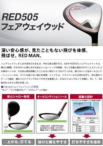 プロギア ゴルフ レッド505 フェアウェイウッド オリジナルカーボンシャフト PRGR RED505 M40/#5