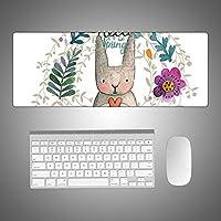 超大型マウスパッドゲーミングマウスパッド滑り止めフラワーパターンゲーミングマウスマットロックエッジ付き/なし4サイズ-マルチカラー900 * 400 * 1.5
