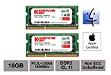 Komputerbay 16GB 1600MHz ノートPC用メモリ 1.35V (低電圧) - 1.5V 両対応 204Pin DDR3L 1600 PC3L-12800 8GB×2枚 永久保証