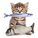 猫 おもちゃ 28cm 抱き枕 お魚 ぬいぐるみ キャットニップ 2本 PETLESO