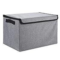 LDG 車用収納ボックス、折りたたみ式 ふた付き 防水 オックスフォード布 整理する 車用収納ケース 16.5 * 9.8 * 10.6in 整理箱 (Color : A)