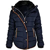 Fashion Thirsty Women's Quilted Hooded Winter Puffer Coat