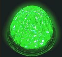 GOODGOODS クリスタル サイドマーカー 24V通用 トラック用 LED12連 車用サイドマーカー 緑 グリーン