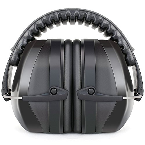 Fnova イヤーマフ プロフェッショナル 防音用 NRR34dB プロテクター ヘッドバンド式 フリーサイズ 大人&子供用 黒【並行輸入品】