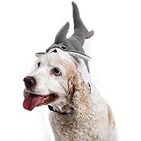 D-bird sky 3D ペット サメ帽子 超可愛い猫,子犬の変換 ヘッドギア ペットフード キャップを変更 お誕生日 プレゼント 記念日 ハロウィン クリスマス 変身 コスプレ コスチューム 写真 テディ 子犬 子猫 ホーン 変形ドレス ヘッドスカーフ (M)