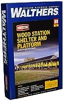 [ウォルサーズ]Walthers Cornerstone Series Kit HO Scale Wood Station Shed and Platform 933-3188 [並行輸入品]