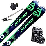スキー5点セット SALOMON 15-16 X-PRO TI LITHIUM 10 154cm ブーツ25cm ストック110cm メンズグローブ ワクシング施工