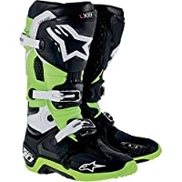 Alpinestars アルパインスターズ Tech 10 テック10 オフロード ブーツ 黒緑/US9 [並行輸入品]