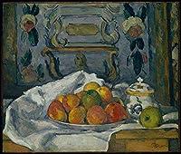 手描き-キャンバスの油絵 - Dish of Apples ポール・セザンヌ 芸術 作品 洋画 ウォールアートデコレーション -サイズ04