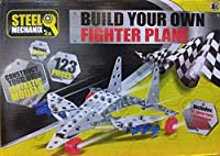 New Steel Metal Build Your Own Fighter Plane 123 Pieces Toy Model Jet Create [並行輸入品]