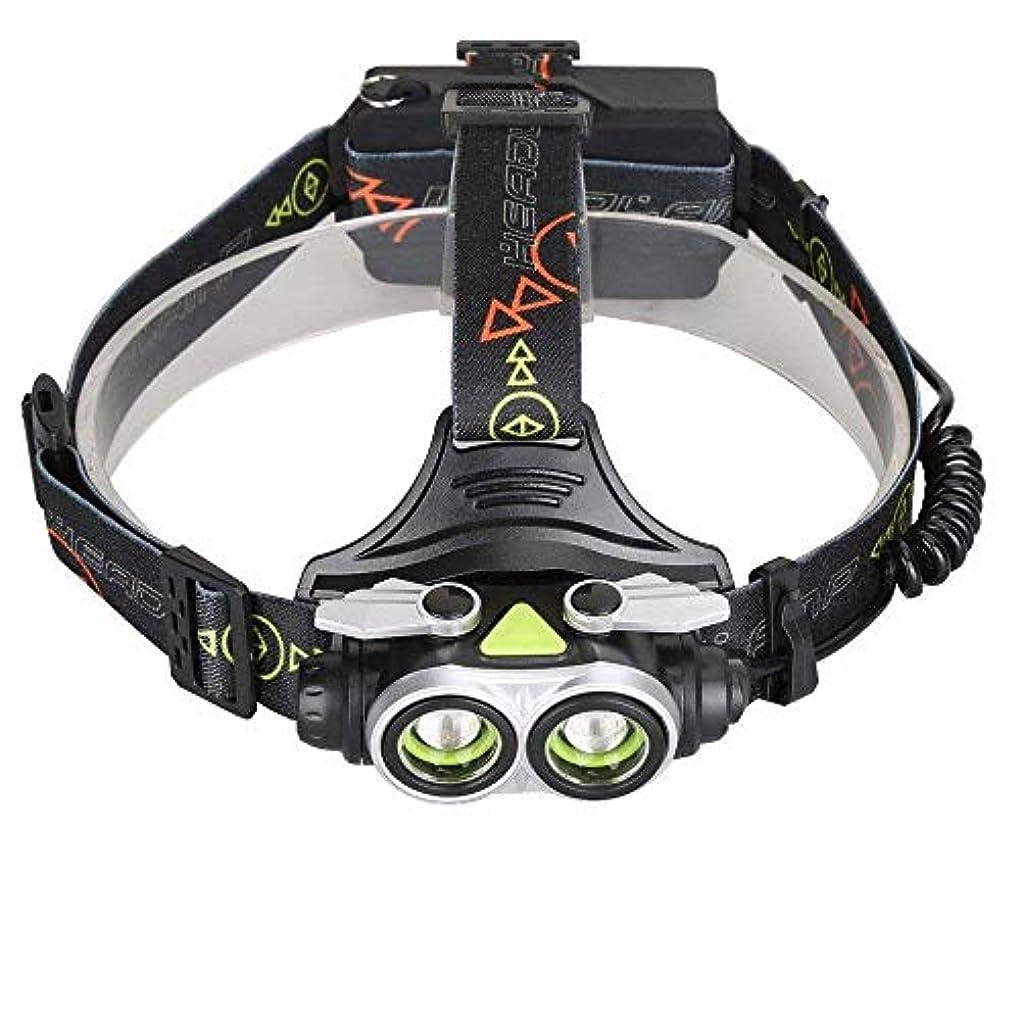 ペレグリネーション頑張る広告主Erosttd 超高輝度LEDヘッドランプUSB充電式調整可能2T6ヘッドライト、、防水ランニング、キャンプ、ハイキングなどに最適