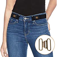 XZQTIVE ベルト 男女兼用 ノーバックル ゴム ベルト レディース スレンダー ベルト メンズ サイズ 無段階 調節可能 裏技ベルト大きいサイズ 着替え バックルなし 便利 グッズバックル付属で2WAY 使用可