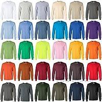 Gildan Long Sleeve T-Shirt Blank Plain tee S - 5XL Small Big Men's Ultra Cotton