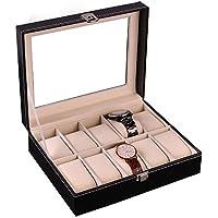 Itian 腕時計収納ケース 10本用 腕時計収納ボックス コレクションケース ウォッチアクセサリー ブラック