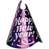 Amscan Rocking New Year 's Party Confetti Glitter Cone Hat Accessory ( 1パック) 9