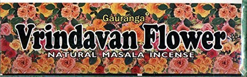 モチーフ襲撃起こるVrindavan Flower Incense - (100 Gram Pack)