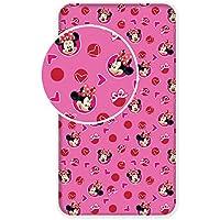 DISNEY Minnie Mouse ディズニー ミニーマウス シングル ボックスシーツ 2888 [並行輸入品]