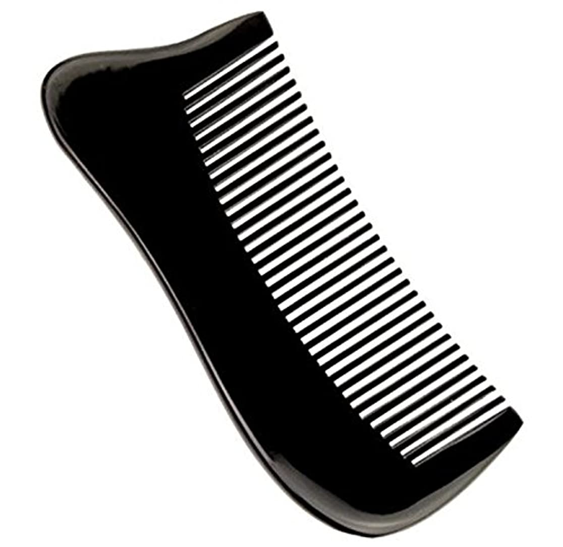 荒らす寄付する理想的櫛型 プロも使う牛角かっさプレート マサージ用 血行改善 高級 天然 静電気防止 美髪 美顔 ボディ リンパマッサージ