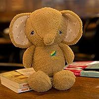 HuaQingPiJu-JP 子供のためのミニラブリーソフト動物象のぬいぐるみ動物象のおもちゃ人形赤ちゃん(ブラウン)