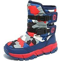 JACKSHIBO Girls Boys Outdoor Waterproof Winter Snow Boots(Toddler/Little Kid/Big Kid)