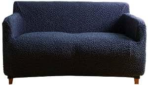 縦横 ストレッチ ぴったりフィット ソファーカバー(肘付き3人掛け 幅160〜180cm) ネイビー 47425D07