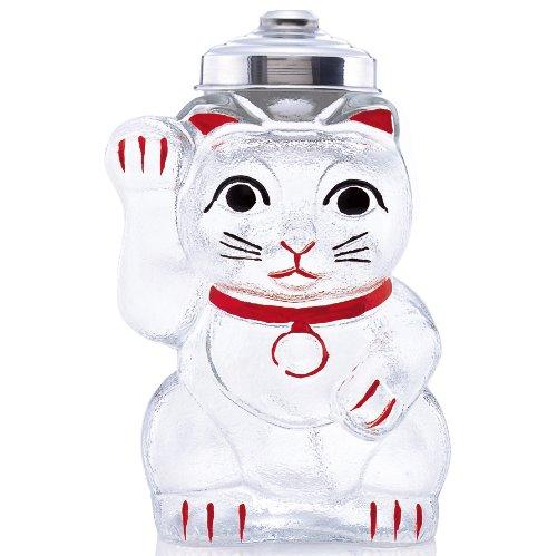 廣田硝子 菓子ビン 招き猫 SM-2