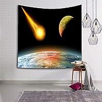 ギャラクシータペストリー壁掛け風景惑星タペストリー壁掛けタペストリーリビングルーム寝室装飾タペストリー JAHUAJ (Color : D, Size : 60x80inches)