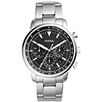 FOSSIL Men's FS5412 Year-Round Chronograph Quartz Silver Band Watch