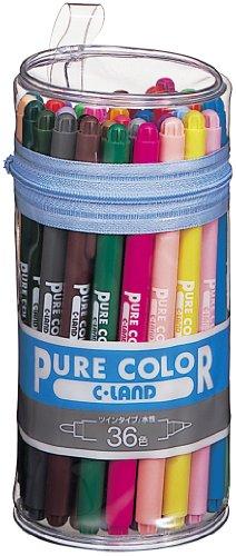 三菱鉛筆 ピュアカラーサインペン36色セット PW100TPC36C / 三菱鉛筆