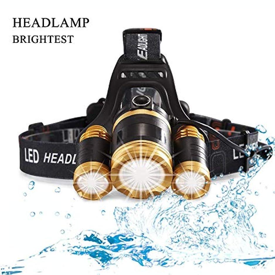 禁止ビリー一次MUTANG 軽量超明るいLEDヘッドトーチライトヘッドライト充電式防水LEDヘッドランプ懐中電灯Zoomableハードハットキャンプランニングフィッシング