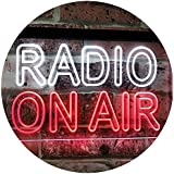 Radio On Air DND Dual Color LED Neon Sign White & Red 400 x 300 mm st6s43-i3094-wr