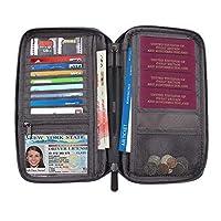ETLEE Travel Passport Wallet、クレジットカードバッグ付き防水パスポートホルダー、男性&女性用ブラックチケットオーガナイザーケース - ブラック