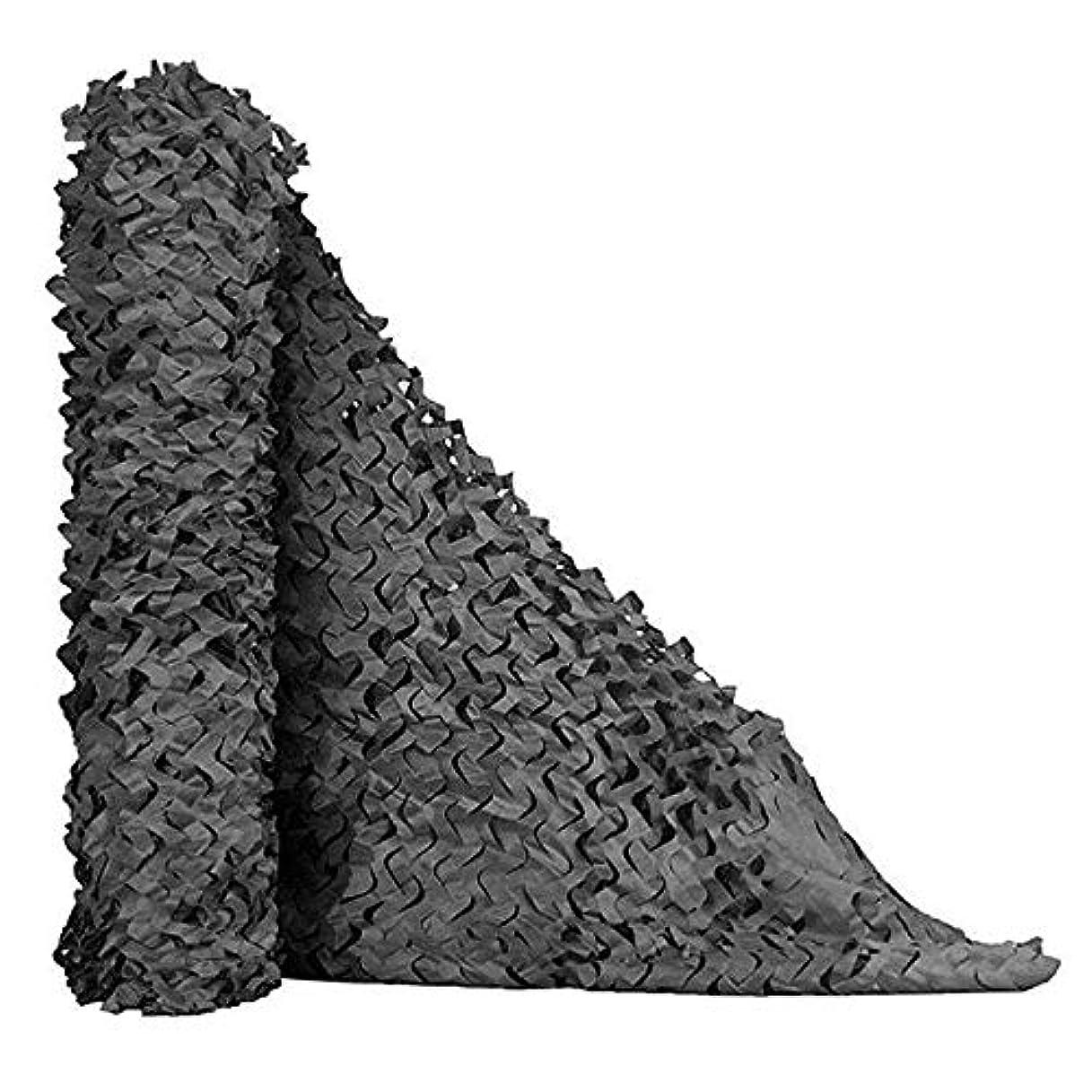 気がついて被害者中断迷彩ネット、迷彩ネット、カモフラージュ、キャンプ、射撃、ブラインド日焼け止めネット、カモフラージュパーティーの装飾 ZHAOFENGMING (Color : Black, Size : 2x6M)