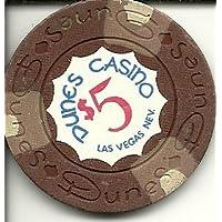 $ 5砂丘Super Rare Vintageラスベガスカジノチップ