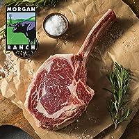 モーガン牧場ビーフ アメリカ産牛肉 熟成 高品質 厚切り トマホークステーキ アメリカンビーフ ホルモン剤や抗生物質不使用 1kg