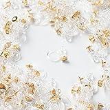 ノンホールピアス 樹脂 平皿ピアス付き【ゴールド 4mm】10個 ピアスみたいなイヤリングパーツ ハンドメイド 金具 材料