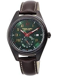 [ハンティングワールド]HUNTING WORLD 腕時計 HWM002 クォーツ グリーン文字盤 ダークブラウンレザー 5気圧防水 HWM002GRDB メンズ 【正規輸入品】
