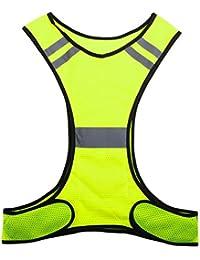 feamos安全性高い可視性反射ベストクラス2ポケット付きジョギングランニングサイクリング犬ウォーキングメンズレディース