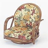 籐家具(ラタン) 籐回転座椅子 SH18 ロータイプ S541B