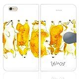 [iPhone6S 6 兼用 手帳型 ケース カバー スタンド付] 「コーギー」