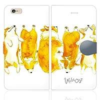 iPhone6S iPhone6 手帳型 ケース カバー コーギー NoA 犬 dog アニマル ウェルシュ カーディガン
