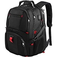 Travel Laptop Backpack,TSA Friendly Scansmart Durable Computer Bag w/USB Charging Port/Headphone Hole Fit Most 17-inch Laptops & Notebook, Black