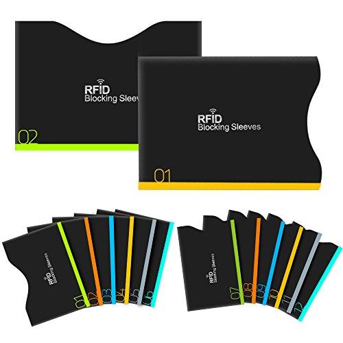 Aerb カードケース RFIDスキミング防止 12クレジットカードケース+2パスポートケース (黒)