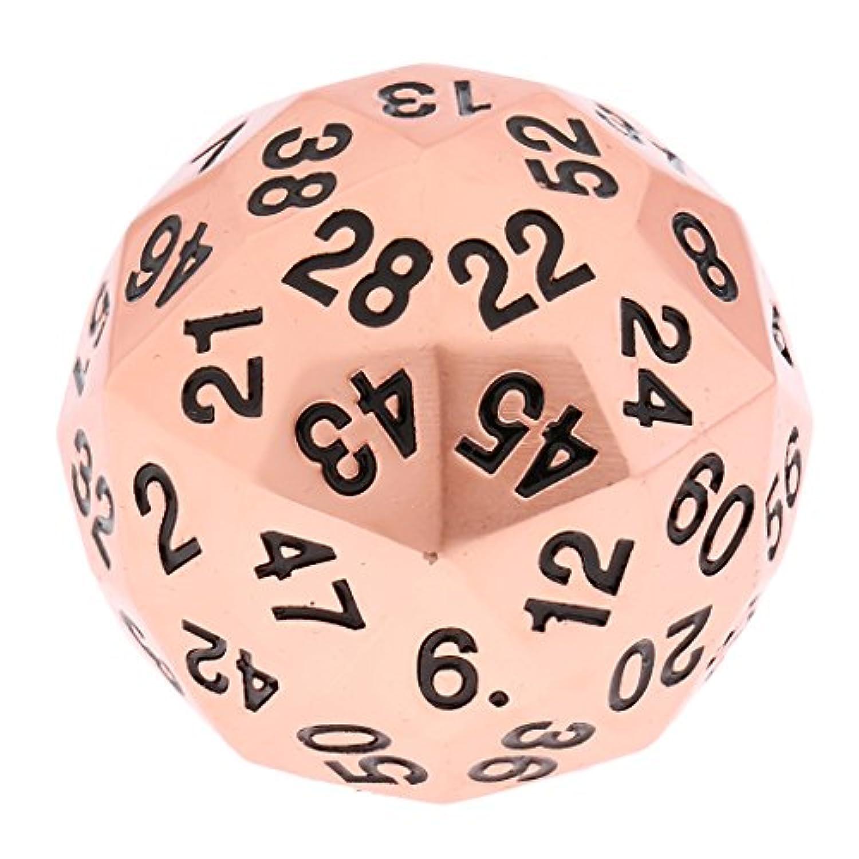 sharprepublic ダイス 60面 骰子 D60サイコロ 多面体 合金 テーブルゲーム用 小道具 贈り物 全7選択 - #1